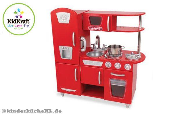 Amerikanischer Kühlschrank Vintage : Kidkraft rote vintage küche kinderküchexl