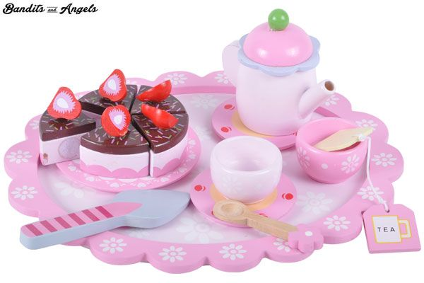 Sweet strawberry 16-teilige tee set